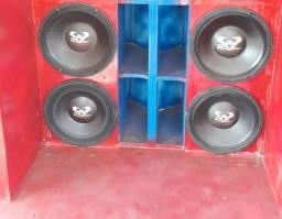 4 alto falante Ultravox 600 pancadão de um módulo 5000 Rms