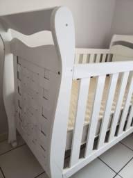 Berço 3x1 ( Berço e cama) Com colchão