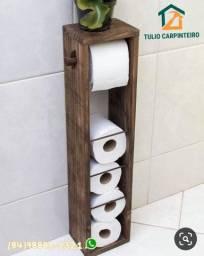 Porta papel higiênico para banheiro