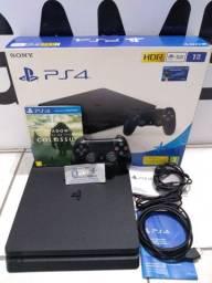 PS4 Slim 1 Tera de HD Semi Novo Disponível na D+ Games!