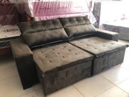 Sofá retrátil e reclinável com pillow 2.40 M novo