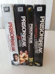Boxs DVDs Prison Break - 1a, 2a, 3a e 4a Temporadas