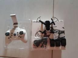 Mini drone Eachine E61hw versão com câmera, vem com três bateria