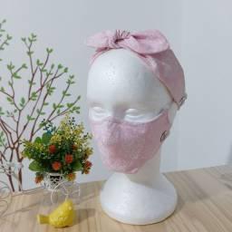 Kit Tiara + Máscara com filtro feito por encomenda!