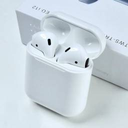 Fone De Ouvido Bluetooth 5.0 Airpods i12 Tws Sem Fio Versão Touch Branco Novo
