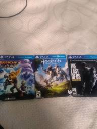 Vendo kit três jogos PS4