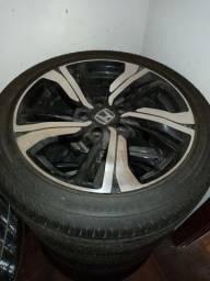 Jogo de rodas Civic G10 com pneus