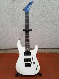 Guitarra Jackson Dinky JS11 Gloss White + Cabo + Correia + Bag Simples + Suporte