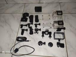 Vendo câmera filmadora sj4000 com microfone externo, 4k