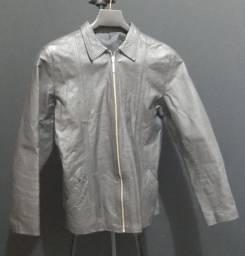 Jaqueta de couro unissex P.