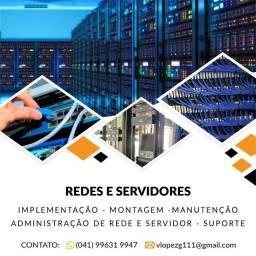 Manutencao em servidores e redes