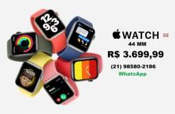 Lançamento - Apple watch SE 44mm - novo lacrado, use seu Apple Watch usado como entrada