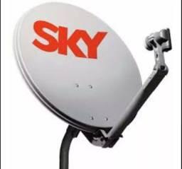 Antena sky sem lnb sem cabo