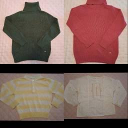 12- Blusinhas de inverno infantil tamanhos 04 e 06