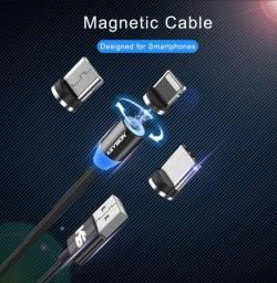 Cabo USB 2m Carregar Celular Universal Magnético Lightning Tipo C Micro Aceito Cartão
