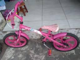Bicicleta Rosa da Barbie para criança de 2a 6anos de idade
