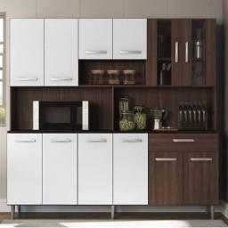 Armário de cozinha Clara 12 portas - ótimas repartições - montagem Grátis