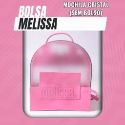 Bolsa (Leia a Descrição) Bolsa Nova Mochila Melissa Cristal Várias Cores