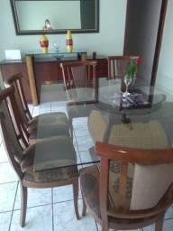 Mesa com 8 caldeiras com arca madeira nobre e espelho