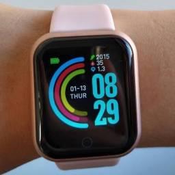 Relógio smartwhatch rosa