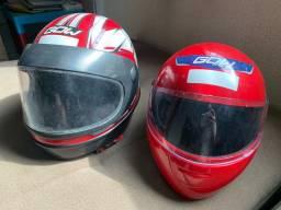 Vendo esses dois capacetes