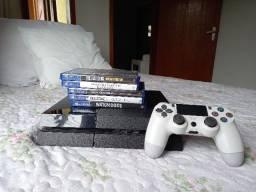 PS4(FAT) 2TB Semi-novo + 5 jogos + 1 Controle