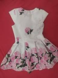 Vestido Menina Florido Tam. 4
