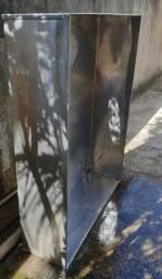 Coifa industrial em Inox com tubulação