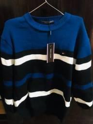 Suéter Tommy Hilfiger Azul listrado