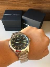 Relógio Orient Prata Novo Grande Original