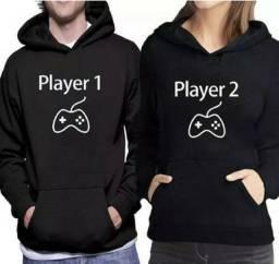 Conjunto Moletons Player 1 E 2 Namorados - Casal -