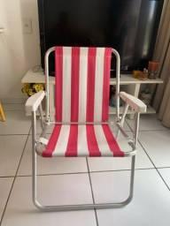 4 Cadeiras de praia em alumínio
