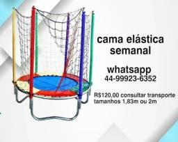 Cama elástica pula pula 1.83m 2m 7 dias R$ 120
