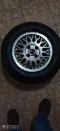Jogo de Pneus Aro 13 Dunlop e Jogo rodas VW