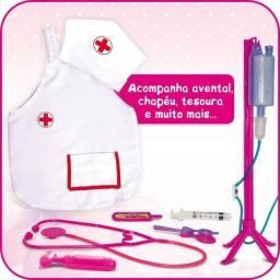 Título do anúncio: Kit Profissões Medica Avental Touca Acessórios