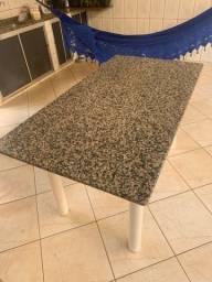 Mesa de mármore com 6 cadeiras de brinde