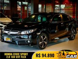 Honda Civic Sedan SPORT 2.0 Flex 16V Aut.4p 2017 Flex