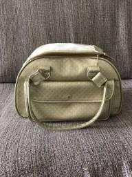 Bolsa para Pet pequeno porte dourada