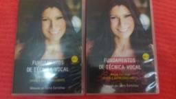 2 DVDS aula de canto