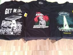 3 camisas 2 brilham no escuro