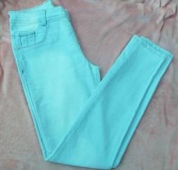 Calça jeans clara cintura alta Tam38/40