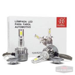 Super led H1 H3 H7 H4 8200 Lúmens - 6000K