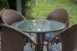 Mesa para jardim 4 cadeiras