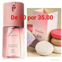 Desodorante spray 01caixa de sabonete com 05