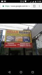 Hello Gesso promoção forro 25,00(a partir de 30m2)
