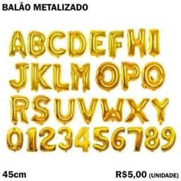 Balão Alfanumérico com Letras e Números 45cm