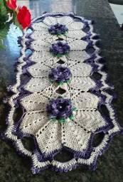 Caminhos de mesa em crochê