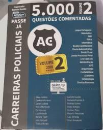 Livro Concurso Carreiras Policiais - Livro Passe Já 5.000 questões - Volume 2