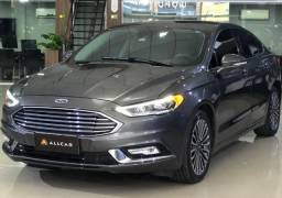 Ford Fusion Titanium Ecoboost 2.0 C/ Teto Solar Cinza 2017/2018