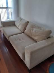 Sofá bege grande reclinável